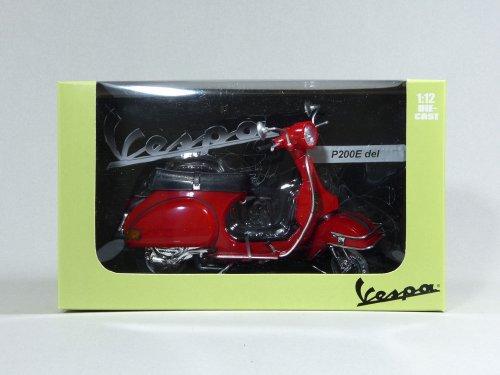 スカイネット 1/12 完成品バイク VESPA P200E (1978/レッド)