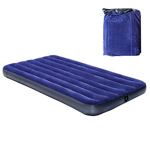 エアーベッド 空気ベッド エアーマット 宿泊客 お昼寝 スペース活用 耐荷重300kg 薄型 高反発 ご選択可能 1NTEX (ポンプなし, 191x99x厚さ22cm)