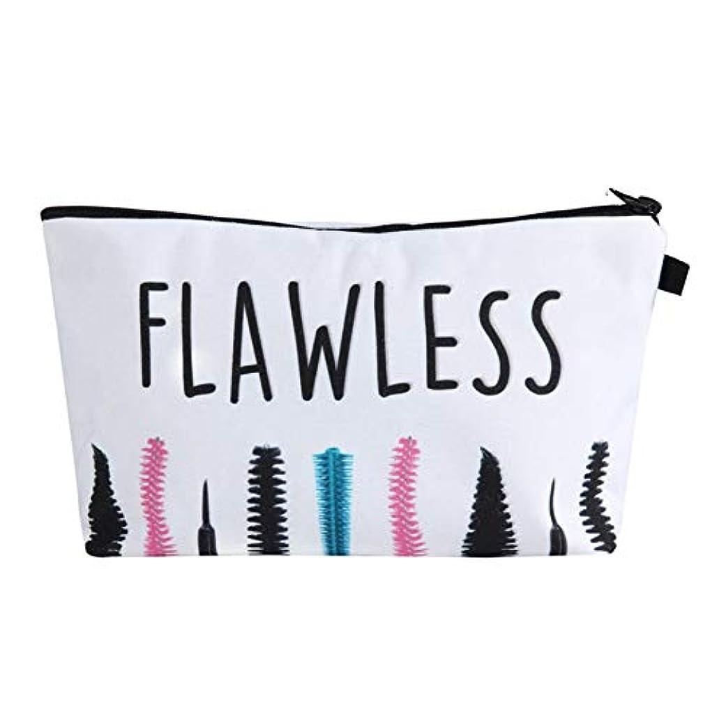 主に単語パリティ化粧オーガナイザーバッグ ポータブル防水化粧品袋印刷トップジッパーメークアップの場合旅行 化粧品ケース (色 : 白)