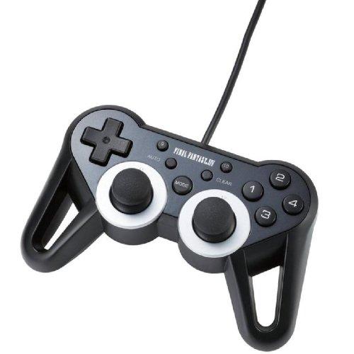 ELECOM ゲームパッド USB接続 【ファイナルファンタジーXIV推奨】振動/連射 高耐久 12ボタン ブラック JC-U3312BK-FF