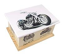 木製骨壺 火葬灰 中質繊維板 チーク材骨壷 葬儀用骨壺 (モーターバイク)