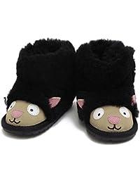 (エミュー) EMU 幼児用 ベビー用 ムートン ブーツ LAMB WALKER ラムウォーカー 羊モチーフ(ブラック) B10760