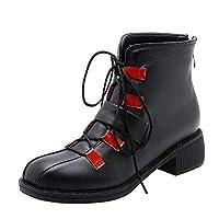 [BalaMasa] ブーツ軽量閉じたつま先調節可能ストラップウィメンズ ABS14289 レッド - 22cm