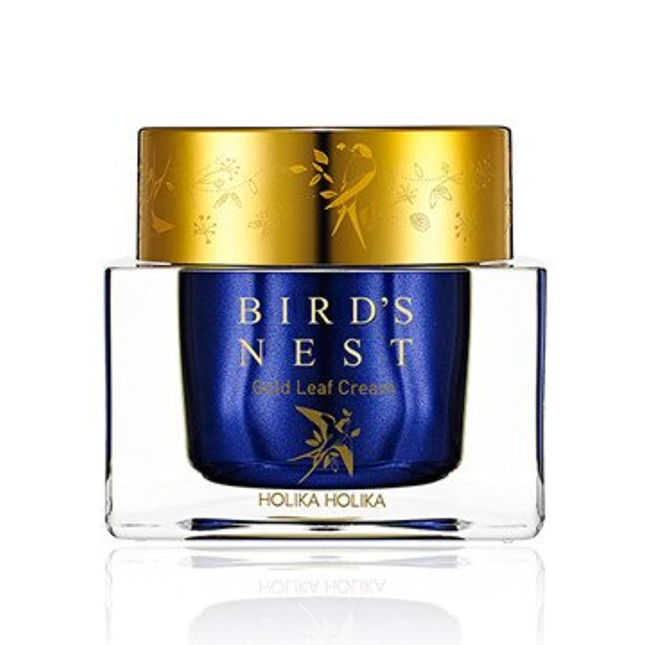 永久制限されたパターン[2018 NEW] ホリカホリカ プライムユース バーズネスト ゴールドリーフ クリーム/Holika Holika Prime Youth Birds Nest Gold Leaf Cream 55ml [並行輸入品]