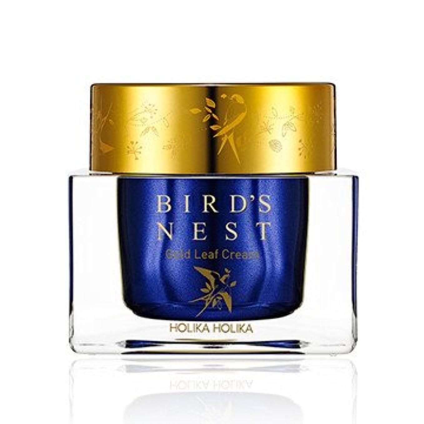 謎めいた租界シリンダー[2018 NEW] ホリカホリカ プライムユース バーズネスト ゴールドリーフ クリーム/Holika Holika Prime Youth Birds Nest Gold Leaf Cream 55ml [並行輸入品]