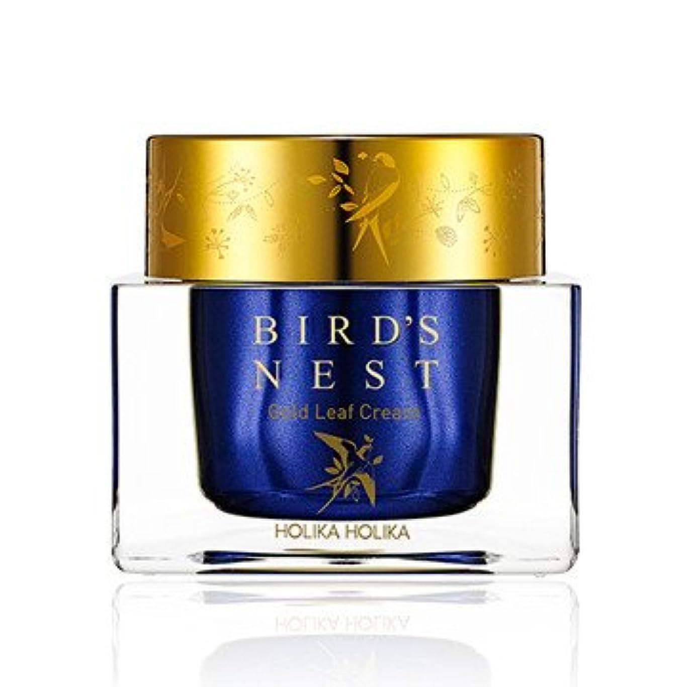穿孔するピーブ本気[2018 NEW] ホリカホリカ プライムユース バーズネスト ゴールドリーフ クリーム/Holika Holika Prime Youth Birds Nest Gold Leaf Cream 55ml [並行輸入品]