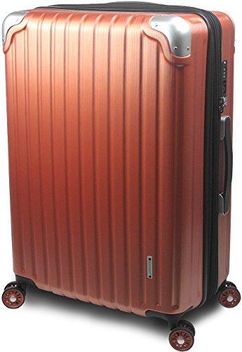 【SUCCESS サクセス】 スーツケース 3サイズ 【 大型 76cm / ジャスト型 70cm / 中型 65cm 】 超軽量 TSAロック搭載 【 プロデンス コーナーパットモデル】 (大型 Lサイズ 76cm , パーシモンヘアライン )