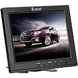 Eyoyo 8 Inch HDMI Monitor 1024x768 Resolution Display Portable 4:3 TFT LCD Mini HD Color Video Screen Support HDMI VGA BNC AV Ypbpr Input for PC CCTV Home Security (8 inch 1024x768)