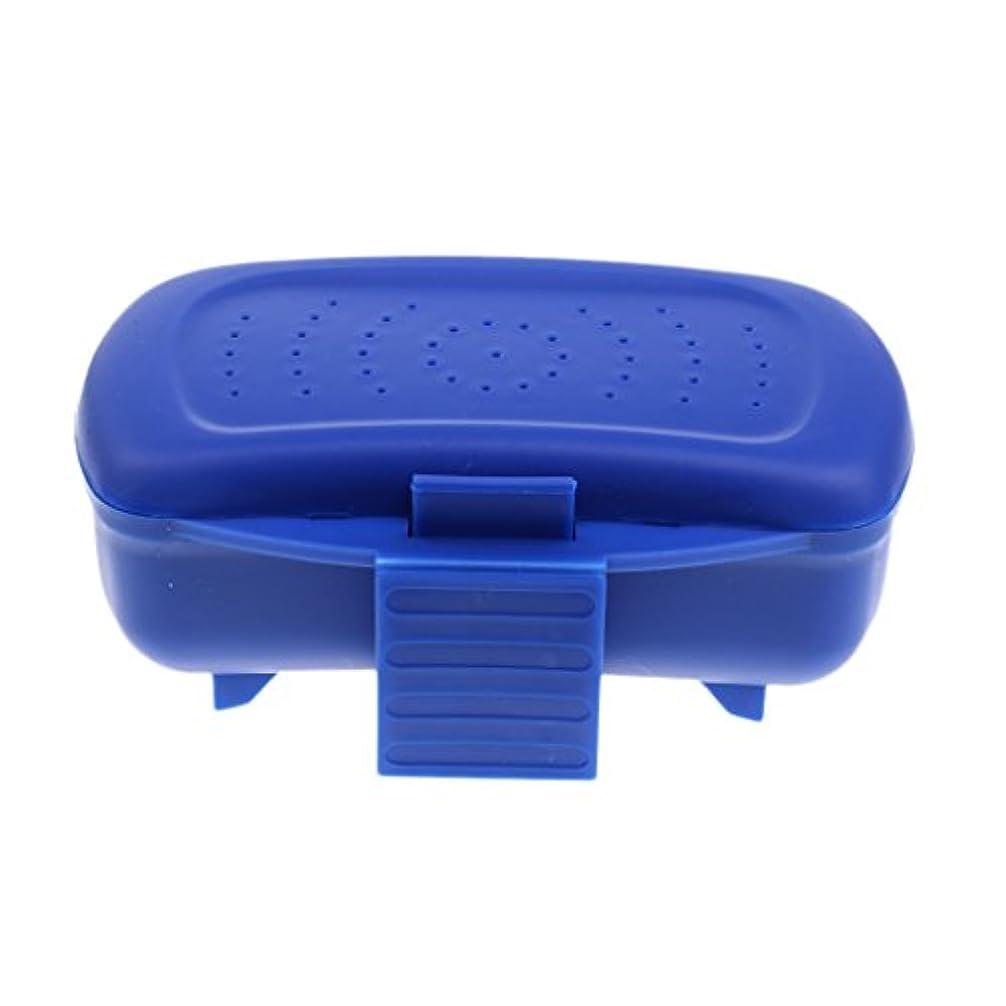 苦しみ無視フィードバックFlameer  ミニ 便利 釣り ミミズ 餌 ルアー 収納ボックス  タックルボックス ブルー  プラスチック
