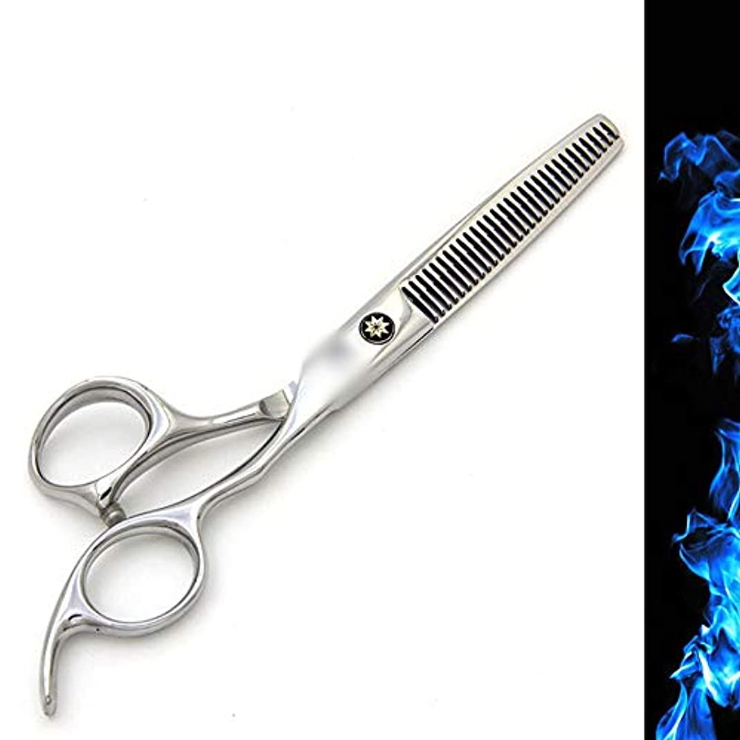 指定砦ホテル6インチ美容院プロフェッショナル理髪セット、理髪はさみフラット+歯せん断高品位本物のセット ヘアケア (色 : Silver)