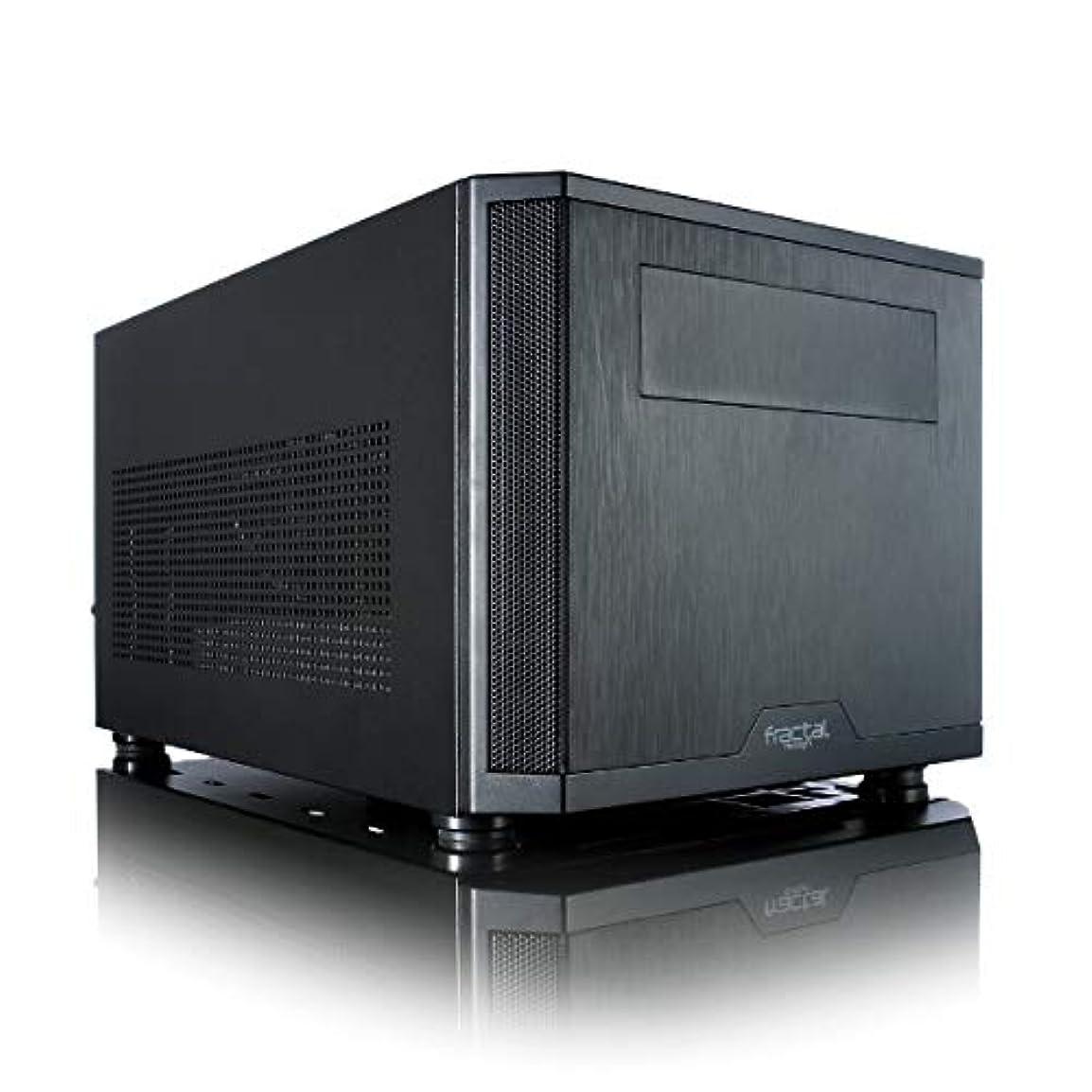 泥だらけ待つ拮抗するFractal Design Core 500 Black 小型キューブPCケース CS5267 FD-CA-CORE-500-BK