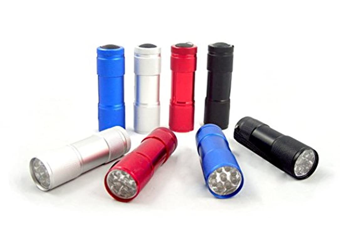 マーキングロケーションラフMaxworks 30204 3-1/2 インチ 9 LED アルミニウム懐中電灯、8 パック