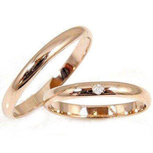 [アトラス] Atrus 結婚指輪 ペア 人気 2本セット ペアリング ピンクゴールドK10 ダイヤモンド ダイヤ K10PG リング 指輪