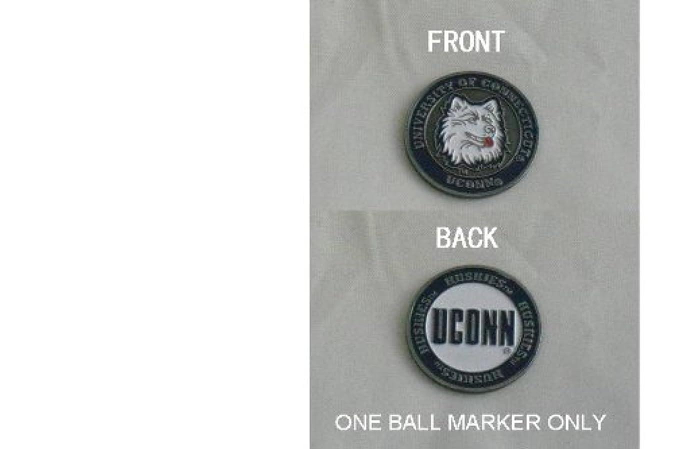 印をつける属性承認するUniversity of Connecticutゴルフ両面ボールマーカーSingle M