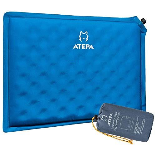 ATEPA クッション 自動膨張 インフレータブル 枕にも座布団 エアピロー 座布団 アウトドア 旅行 ポータブル コンパクト (AA4001)