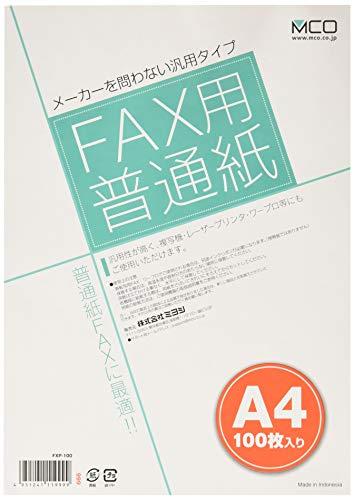 ミヨシ MCO FAX用普通紙 A4 100枚入り  FXP...