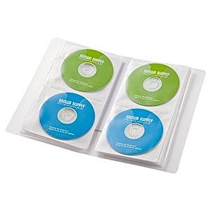 サンワサプライ Blu-rayディスク対応ファイルケース 64枚収納 クリア FCD-FLBD64C