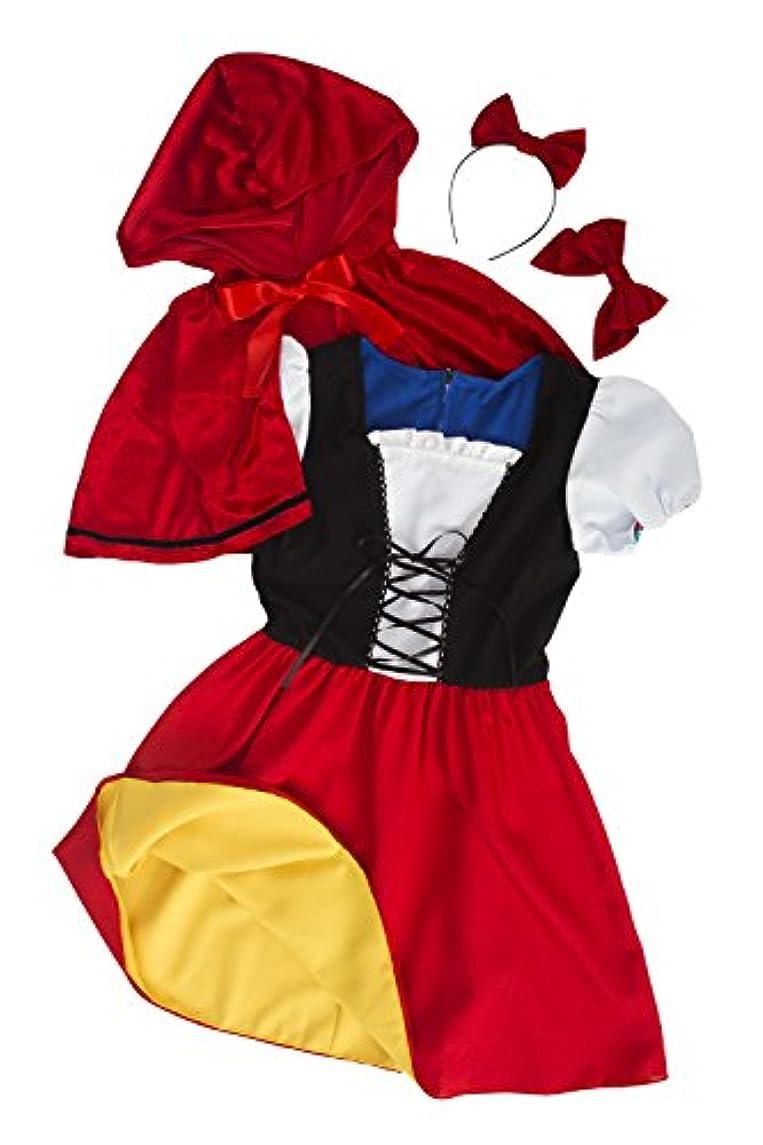 抑制バーチャル平らな【リバーシブル】レッドケープ&スノーホワイト 赤ずきん 白雪姫 コスプレ レディース 赤 黄