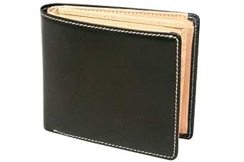 BRITISH GREEN(ブリティッシュグリーン) ブライドルレザー二つ折り財布 グリーン