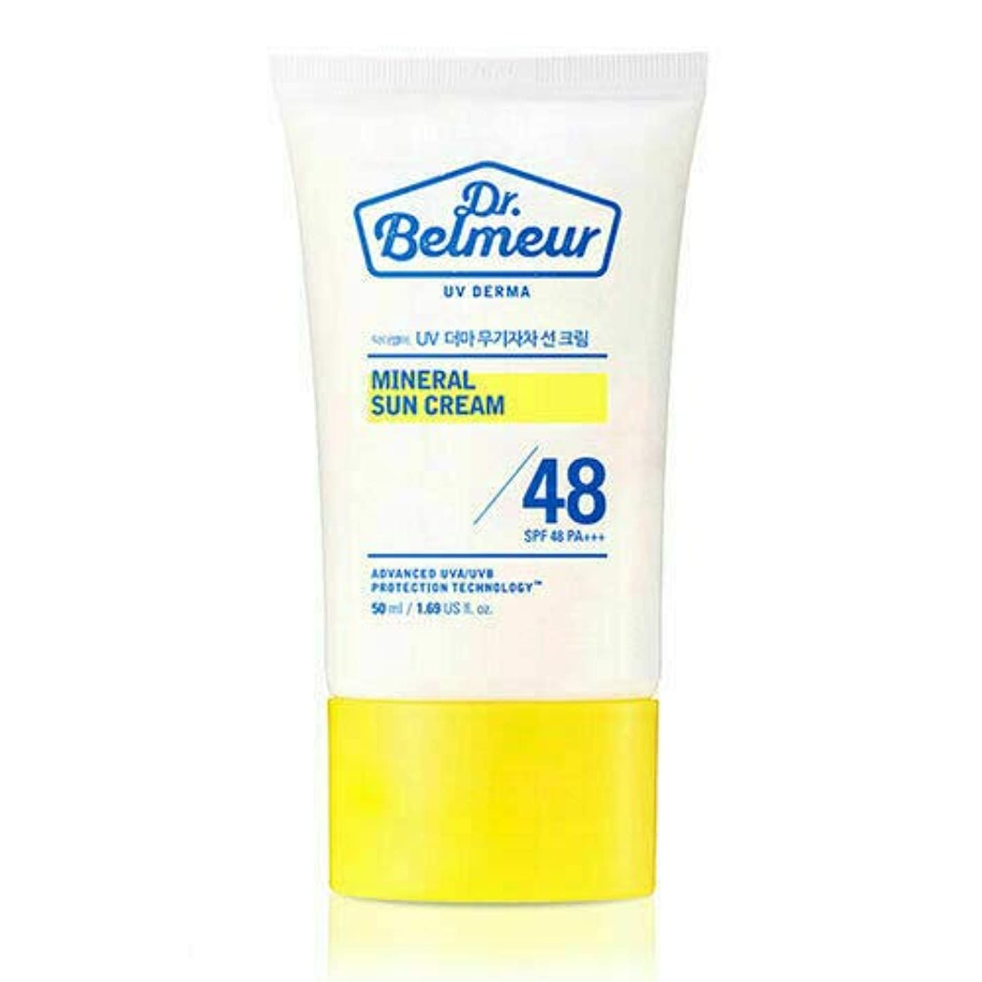 ファン黒描写[ザ?フェイスショップ] THE FACE SHOP [ドクターベルモ UVデルマ ミネラル サンクリーム 50ml] (Dr. Belmeur UV Derma Mineral Sun Cream SPF48 PA+++ 50ml) [海外直送品]