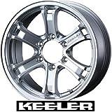 【WEDS:KEELER FORCE】キーラーフォース:16X8.0J 6H +2 139.7 ランクル80サファリY60/61・系等【1本の価格です】