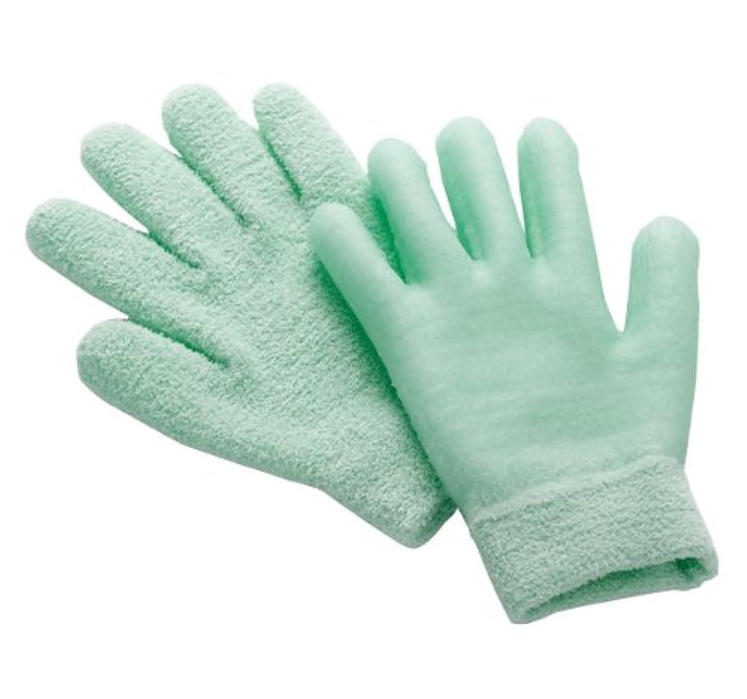 楕円形コショウ染色眠れる森のぷるジェル手袋 グリーン