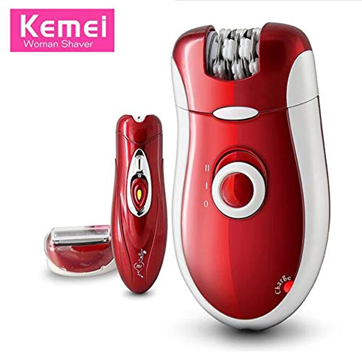 Kemei KM-3068 3 in 1充電式脱毛脱毛器女性シェービングウールデバイスナイフケアボディフェイスレディカミソリ