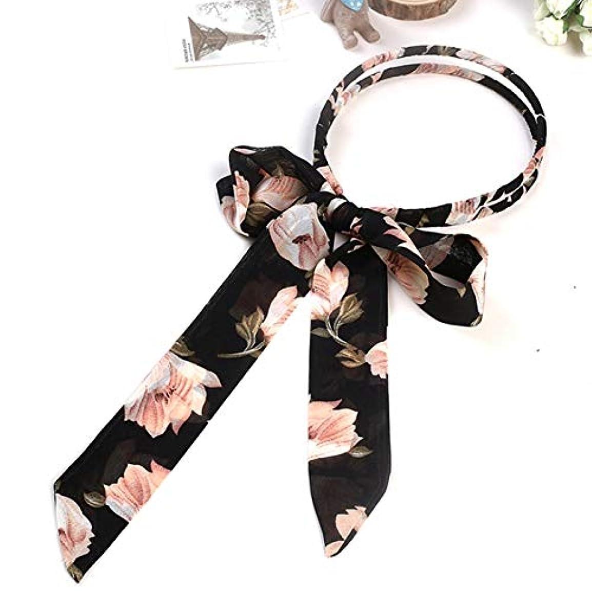 砲撃緊張するサリーの店 便利なデザイン韓国女性スウィート女の子ボウヘアヘッドバンド編み花弓の結び目リボン毛フープ(None 5)