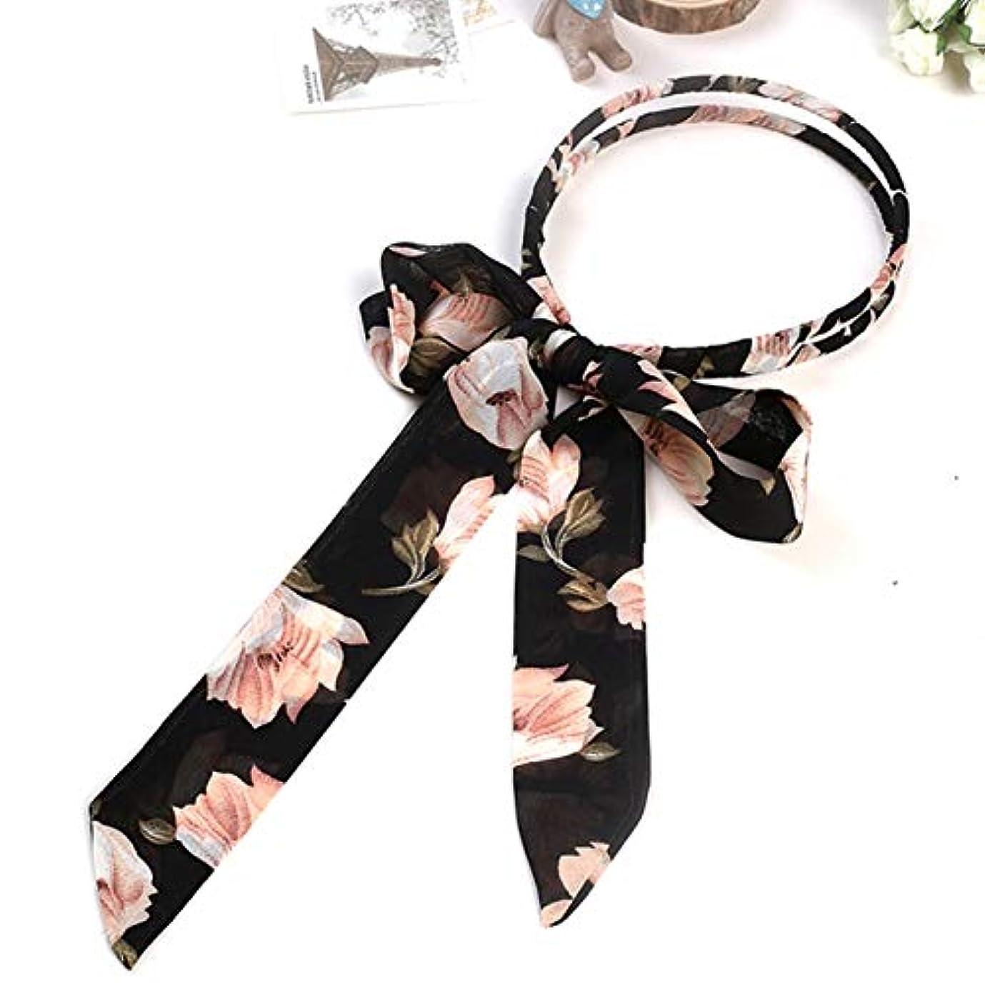 調整消えるアレンジサリーの店 便利なデザイン韓国女性スウィート女の子ボウヘアヘッドバンド編み花弓の結び目リボン毛フープ(None 5)