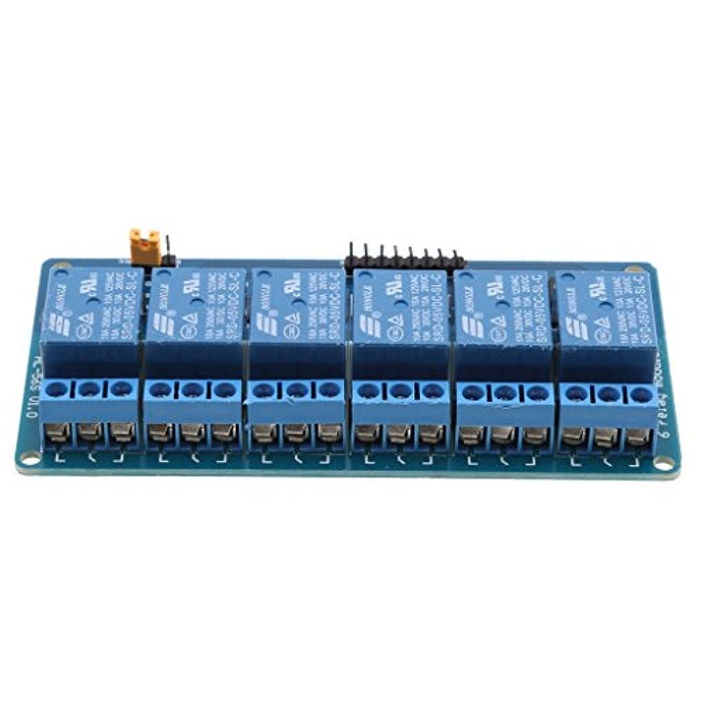 広い受信機関係リレーモジュール 6チャンネル オプトカプラ絶縁 リレー拡張ボード 5V