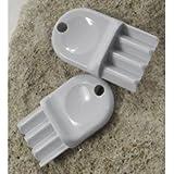 San Jamar Plastic Toilet Paper Dispenser Keys, 2pk. -SAN N16