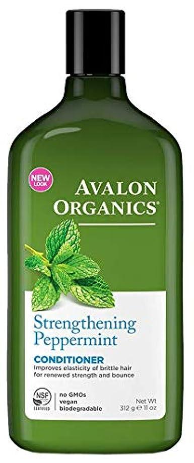 サッカー明確に論理的Avalon Organics Peppermint Conditioner 325ml (Pack of 4) - (Avalon) ペパーミントコンディショナー325ミリリットル (x4) [並行輸入品]