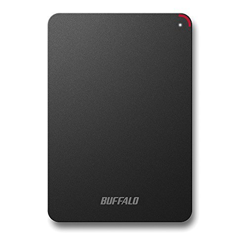 BUFFALO USB3.0接続 PC対応 耐衝撃 フラットデザイン おでかけロック ポータブルHDD 4TB ブラック HD-PSF4.0U3-GB/N