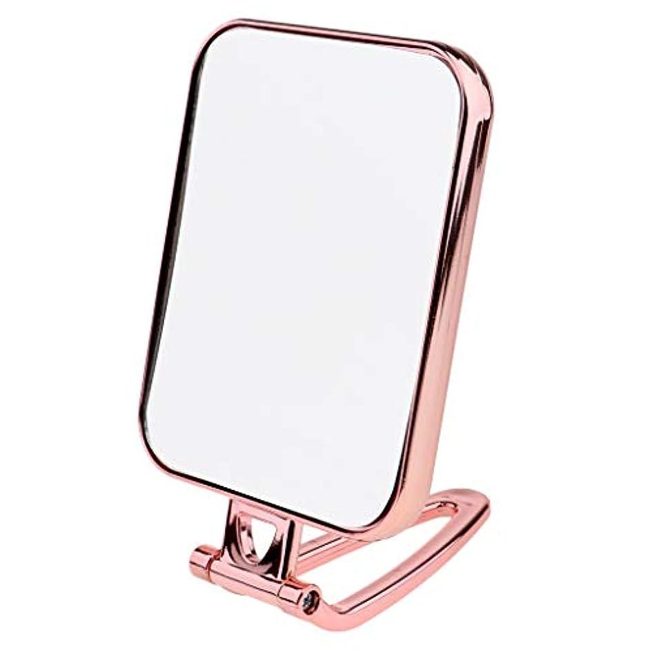 担保鰐シネマ耐久性 化粧鏡 部屋 バスルーム スクエア スタンドミラー 旅行化粧鏡 3色 - ピンク