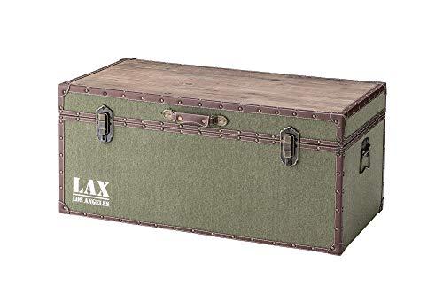 東谷(Azumaya-kk) 収納ボックス グリーン 幅91×奥行46×高さ41cm ボックステーブル トランク IW-352