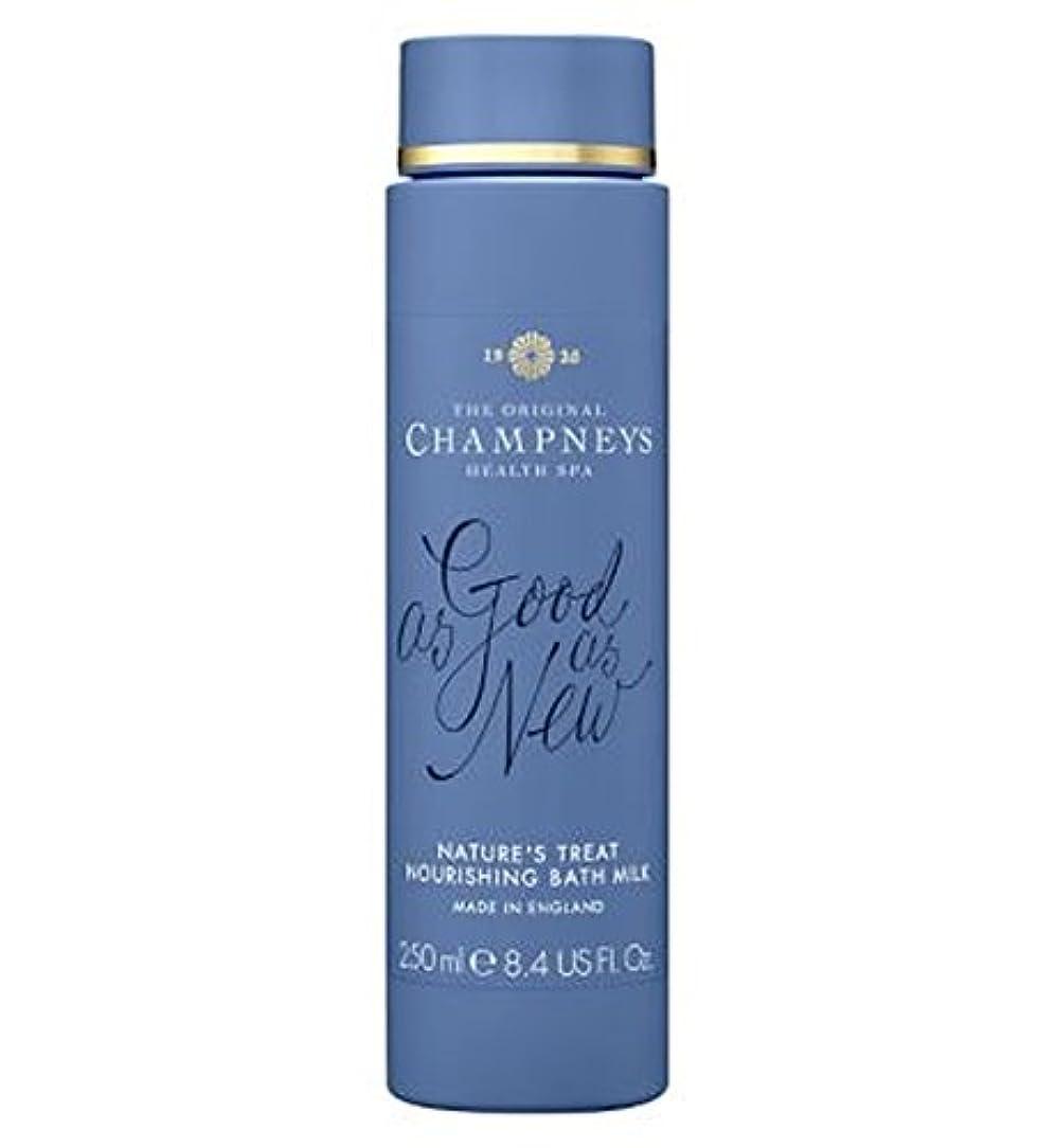 破産道に迷いました降雨チャンプニーズの自然の御馳走栄養バスミルク250ミリリットル (Champneys) (x2) - Champneys Nature's Treat Nourishing Bath Milk 250ml (Pack of...