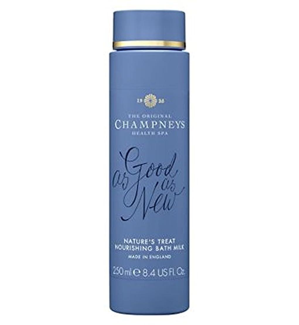 サイバースペースウィザード耳チャンプニーズの自然の御馳走栄養バスミルク250ミリリットル (Champneys) (x2) - Champneys Nature's Treat Nourishing Bath Milk 250ml (Pack of...
