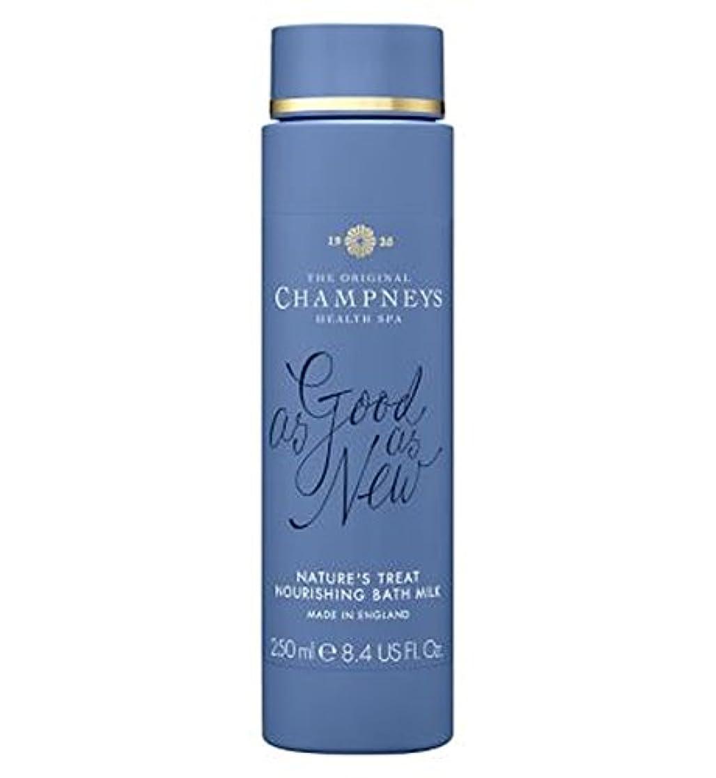 質素なハウジングデータチャンプニーズの自然の御馳走栄養バスミルク250ミリリットル (Champneys) (x2) - Champneys Nature's Treat Nourishing Bath Milk 250ml (Pack of...