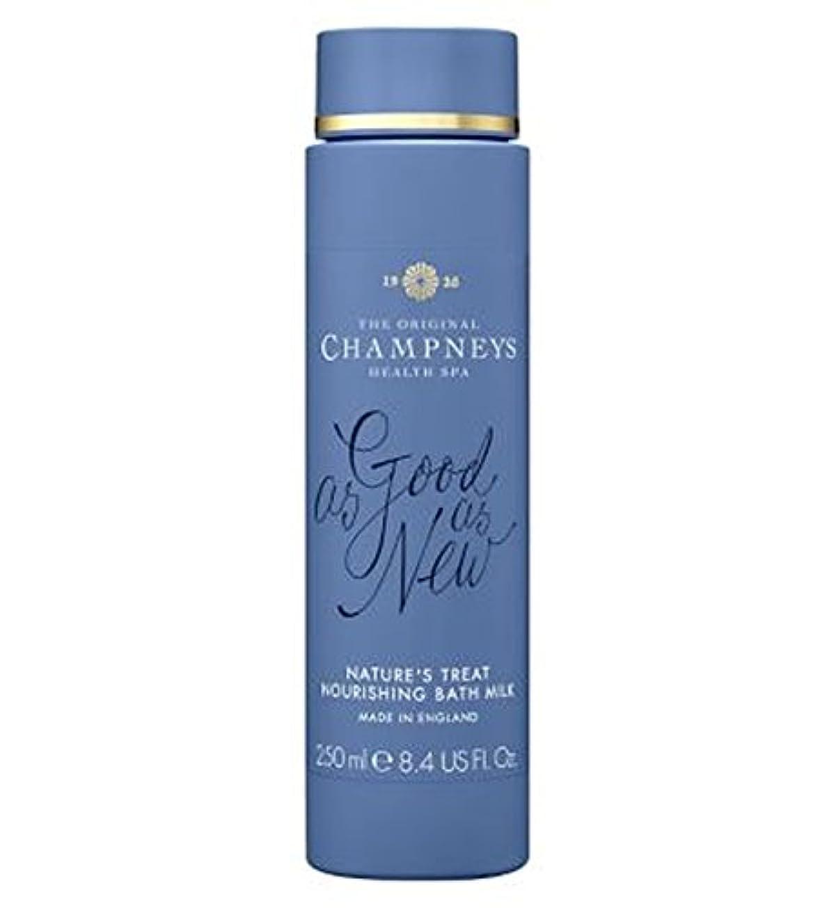 スパン飽和する概要チャンプニーズの自然の御馳走栄養バスミルク250ミリリットル (Champneys) (x2) - Champneys Nature's Treat Nourishing Bath Milk 250ml (Pack of...