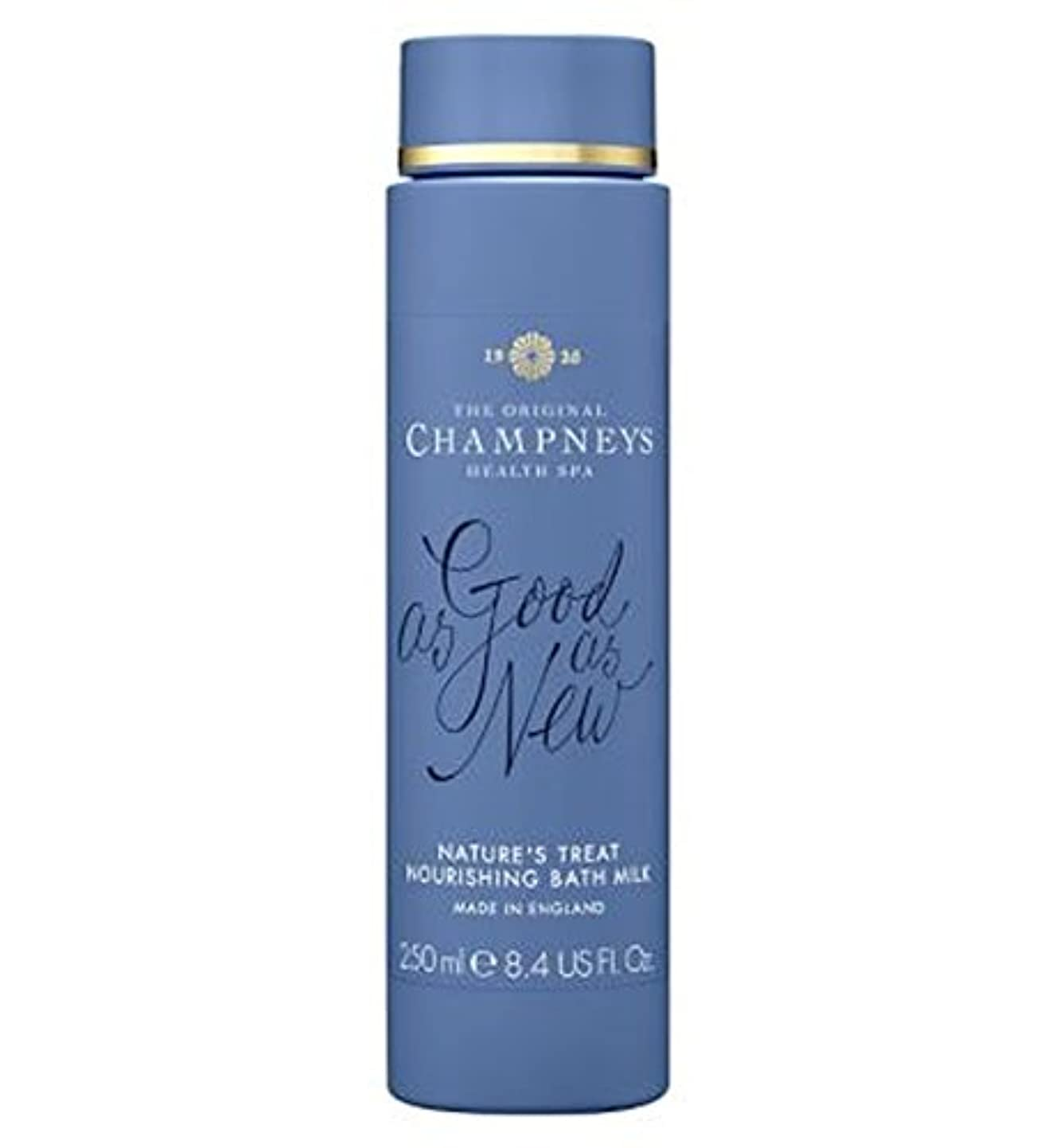 舗装サワーフォーラムチャンプニーズの自然の御馳走栄養バスミルク250ミリリットル (Champneys) (x2) - Champneys Nature's Treat Nourishing Bath Milk 250ml (Pack of...