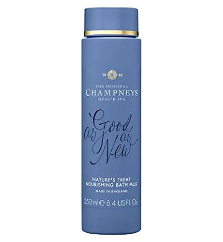 指定プーノ自発チャンプニーズの自然の御馳走栄養バスミルク250ミリリットル (Champneys) (x2) - Champneys Nature's Treat Nourishing Bath Milk 250ml (Pack of...