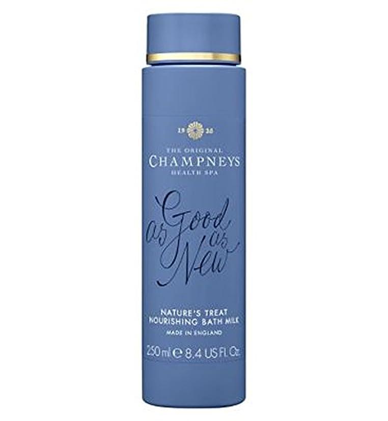 垂直コンサートスタンドチャンプニーズの自然の御馳走栄養バスミルク250ミリリットル (Champneys) (x2) - Champneys Nature's Treat Nourishing Bath Milk 250ml (Pack of...
