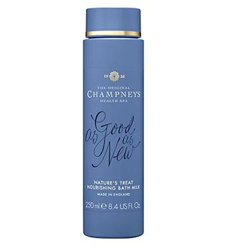 スロット十分ですペチコートチャンプニーズの自然の御馳走栄養バスミルク250ミリリットル (Champneys) (x2) - Champneys Nature's Treat Nourishing Bath Milk 250ml (Pack of...