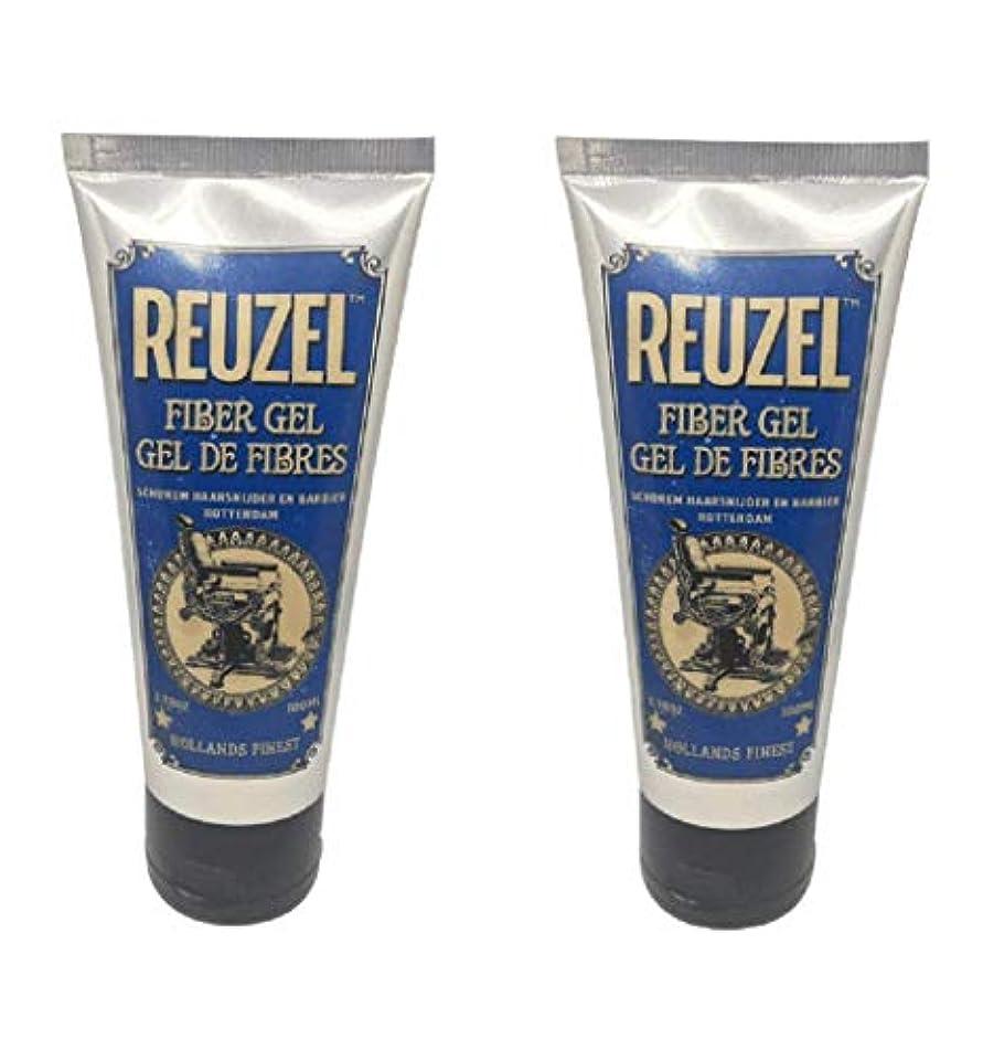 光沢のある落胆するそばに【2個セット】ルーゾー REUZEL ポマード ファイバージェル 100ml