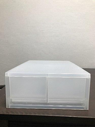 RoomClip商品情報 - 無印良品 ポリプロピレンケース・引出式・浅型・2個(仕切付) (V)約幅26×奥行37×高さ12cm 日本製