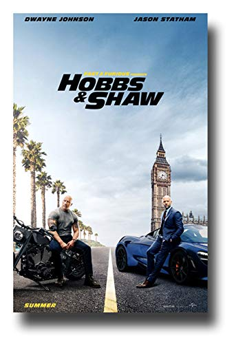Fast and Furious Hobbs and Shaw ポスター 映画 プロモ 11 x 17インチ ドウェイン・ジョンソン ジェイソン・スタサム