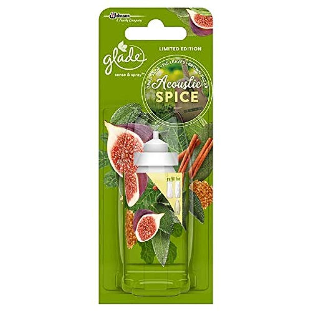 スピーチバック忌まわしい[Glade] 音響スパイス感を空き地やリフィル18ミリリットルスプレー - Glade Acoustic Spice Sense And Spray Refill 18Ml [並行輸入品]