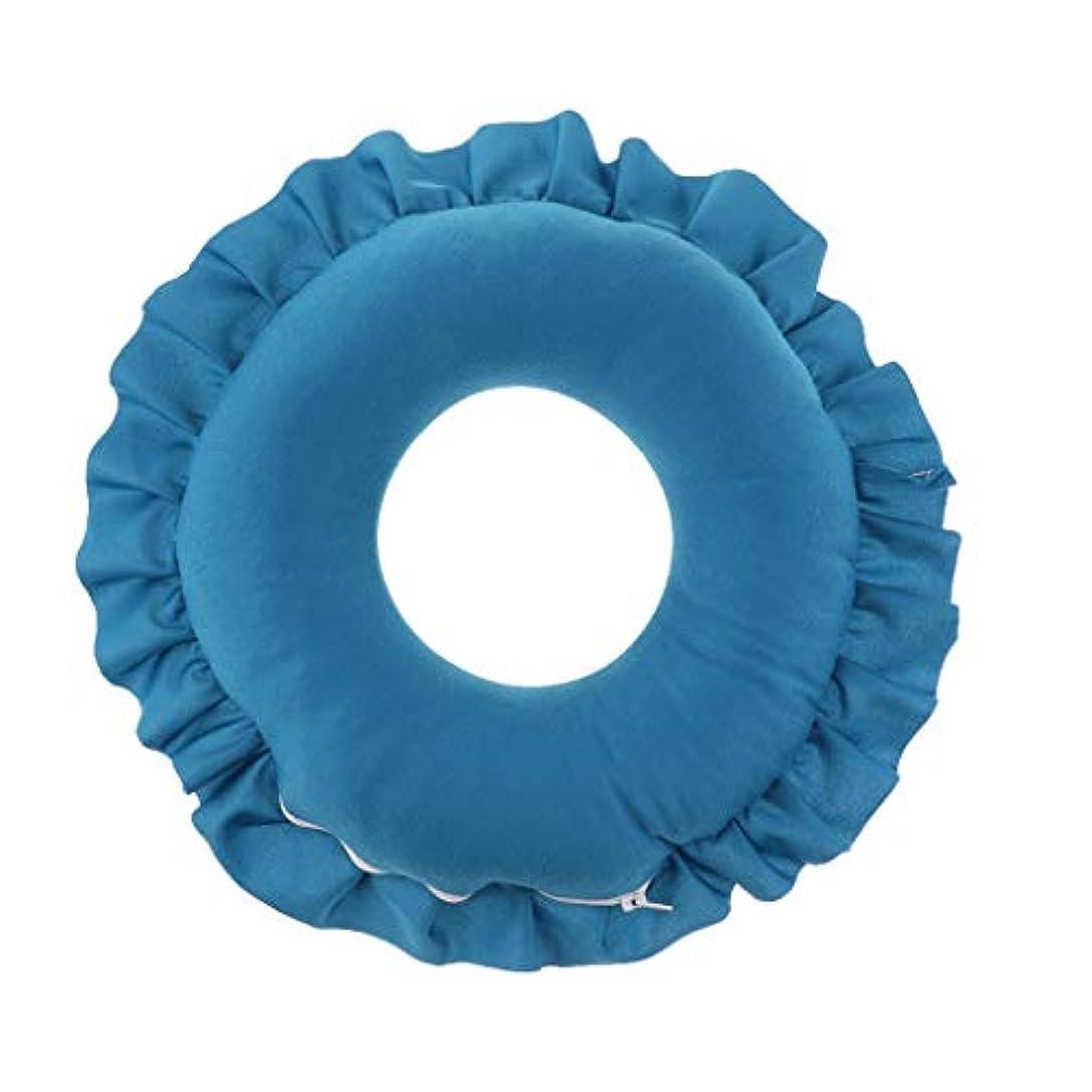 息子虚偽保証するD DOLITY マッサージ枕 顔枕 マッサージピロー 美容院 柔らかくて快適 取り外し可能 洗える 全4色 - 青
