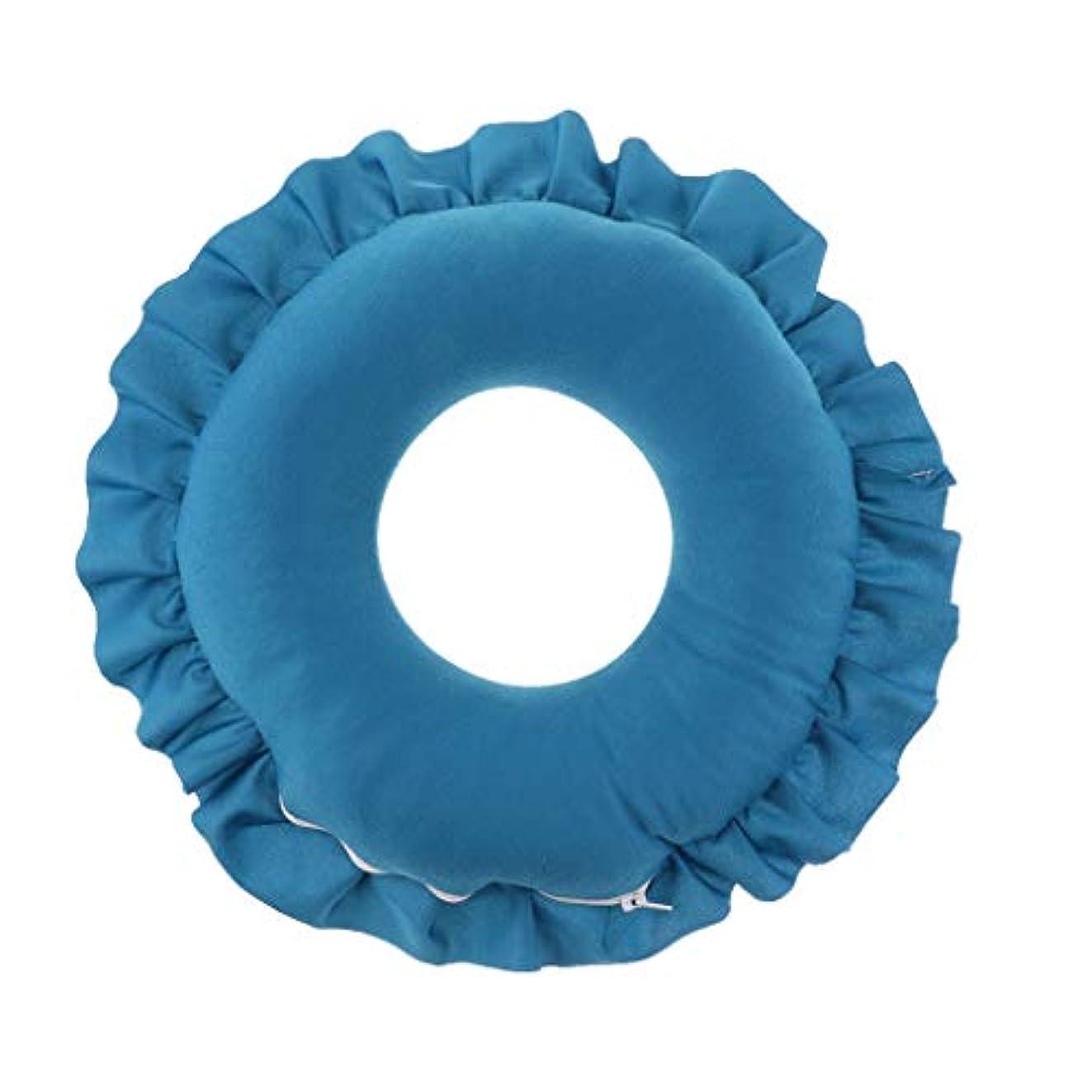 牽引傾く再発するD DOLITY マッサージ枕 顔枕 マッサージピロー 美容院 柔らかくて快適 取り外し可能 洗える 全4色 - 青