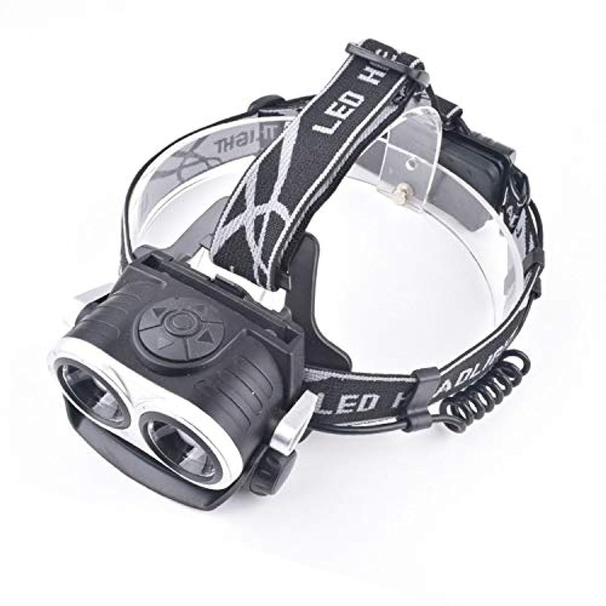 強い光伸縮ズームヘッドライト、デュアルコアT6強いヘッドライト、USB充電ヘッドライト、夜釣りライト自転車ライト